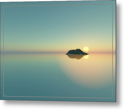 Calm Seas Sunset... Metal Print