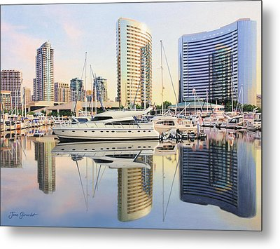 Calm Summer Morning Metal Print by Jane Girardot