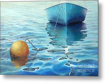 Calm Turquoise Sea Metal Print