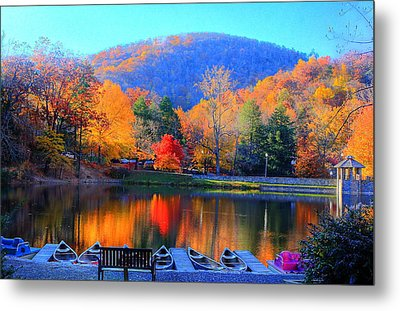 Calm Waters In The Mountains Metal Print