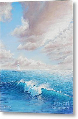 Calming Ocean Metal Print by Joe Mandrick