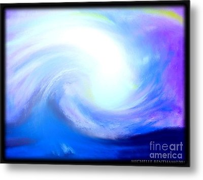 Calming The Stomr Metal Print by Michelle Bentham