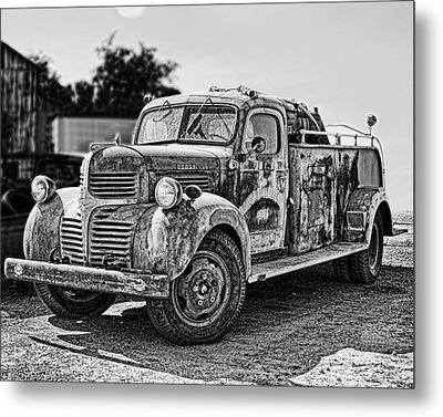 Calusa Rural Fire Truck No2 Metal Print by William Havle