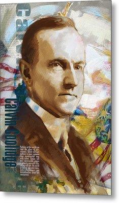 Calvin Coolidge Metal Print by Corporate Art Task Force