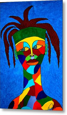 Metal Print featuring the drawing Calypso Man by Chrissy Pena