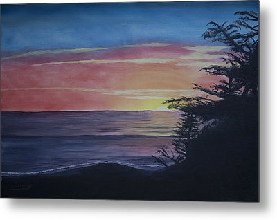 Cambria Setting Sun Metal Print