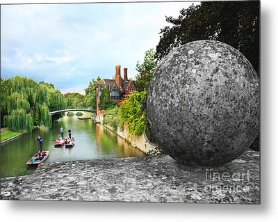 Punting In Cambridge Metal Print by Eden Baed