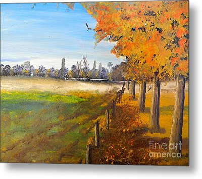 Metal Print featuring the painting Camden Farm by Pamela  Meredith