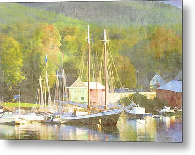 Camden Harbor Maine Metal Print by Carol Leigh