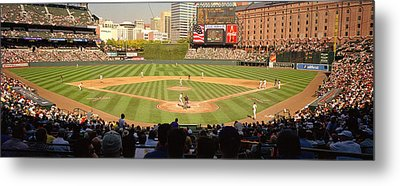 Camden Yards Baseball Game Baltimore Metal Print by Panoramic Images