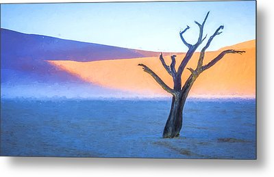 Camel Thorn Dawn - Dead Vlei Digital Art Metal Print by Duane Miller