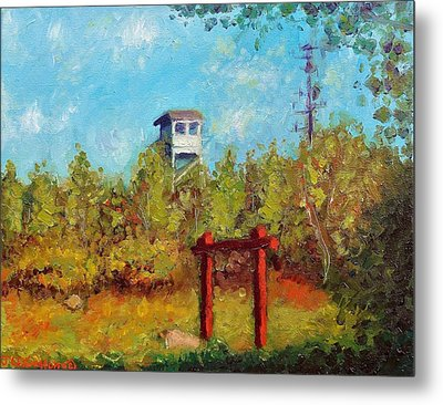 Camel Top Fire Tower Metal Print