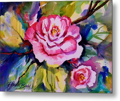 Camellia Prisms Original Sold Prints Available Metal Print by Therese Fowler-Bailey