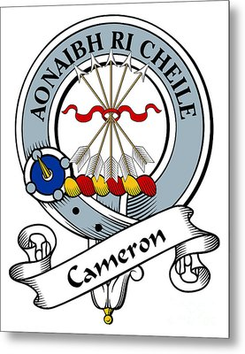Cameron Clan Badge Metal Print by Heraldry