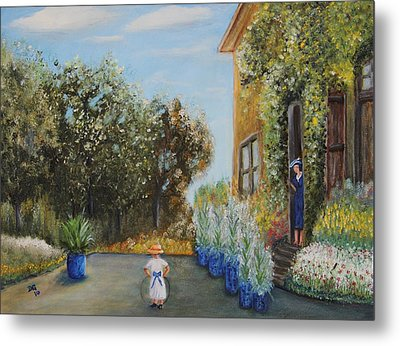 Camille And Jean Monet Metal Print