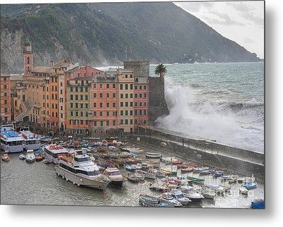 Metal Print featuring the photograph Camogli Under A Storm by Antonio Scarpi