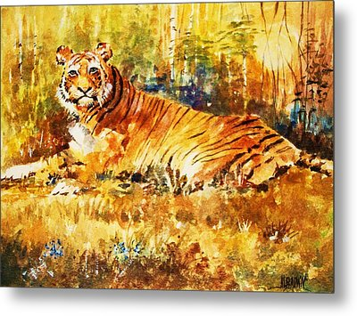 Metal Print featuring the painting Camouflage by Al Brown