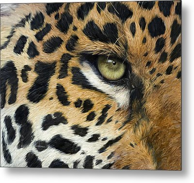 Camouflage Metal Print by Lucie Bilodeau