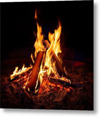 Camp Fire Metal Print