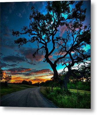 Camp Verde Sunrise Metal Print by Allen Biedrzycki