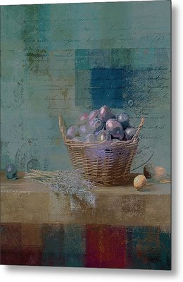 Campagnard - Rustic Still Life - J085079161f Metal Print by Variance Collections