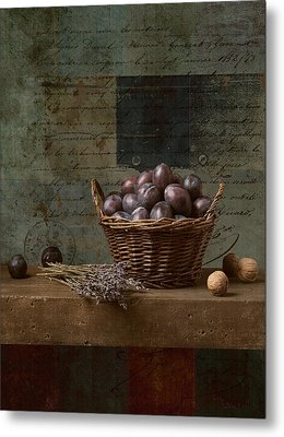 Campagnard - Rustic Still Life - S01otxt1ds1 Metal Print by Variance Collections
