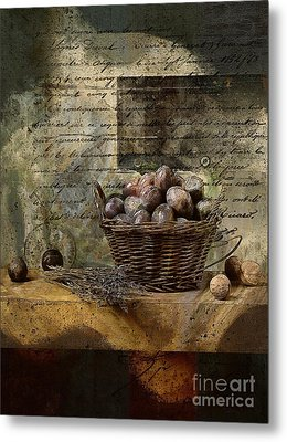 Campagnard - Rustic Still Life - S02sp Metal Print by Variance Collections