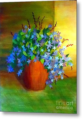 Campanula In Terra Cotta Metal Print