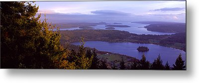 Campbell Lake And Whidbey Island Wa Metal Print by Panoramic Images