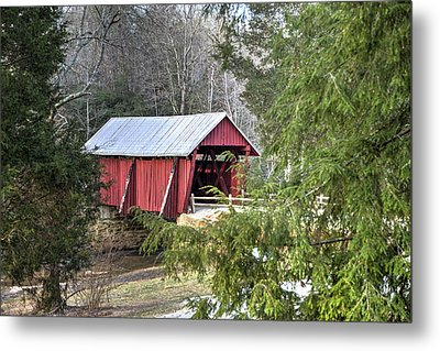 Campbell's Covered Bridge-1 Metal Print by Charles Hite
