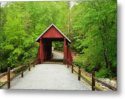 Metal Print featuring the photograph Campbells Covered Bridge by Bob Sample