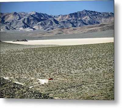 Camped At The End Of The Road Metal Print by Joe Schofield