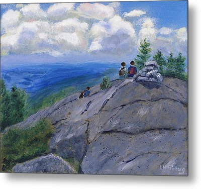 Campers On Mount Percival Metal Print