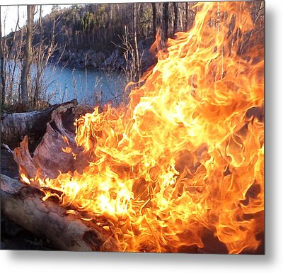 Metal Print featuring the photograph Campfire by James Peterson