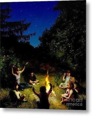 Campfire Story Metal Print by Tom Straub