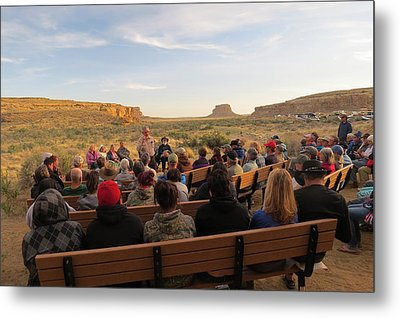 Campfire Talk At Chaco Canyon Metal Print by Feva  Fotos