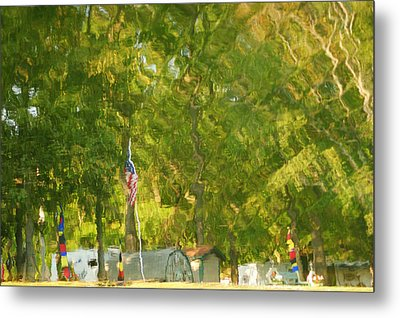 Campground Abstract Metal Print by Frozen in Time Fine Art Photography