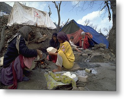 Camping In Iraq Metal Print by Travel Pics