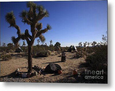 Camping In The Desert Metal Print