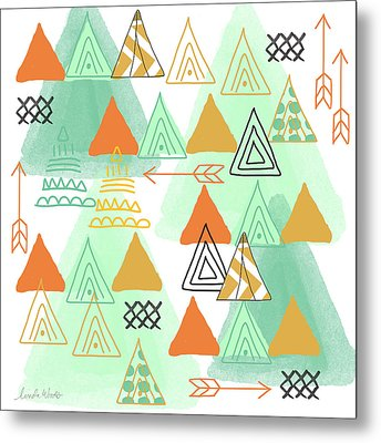 Camping Metal Print by Linda Woods