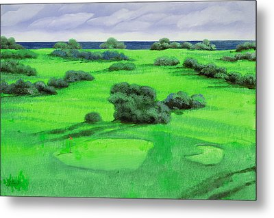 Campo Da Golf Metal Print by Guido Borelli
