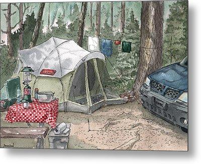 Campsite Metal Print by Sean Seal
