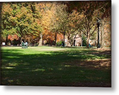 Campus Study Time - Davidson College Metal Print by Paulette B Wright