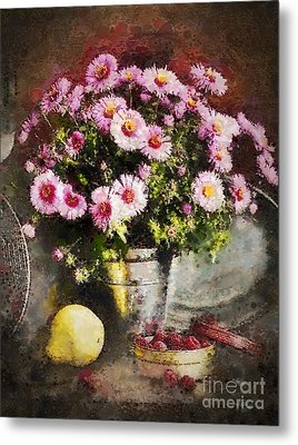 Can Of Raspberries Metal Print by Mo T