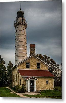 Cana Island Lighthouse By Paul Freidlund Metal Print