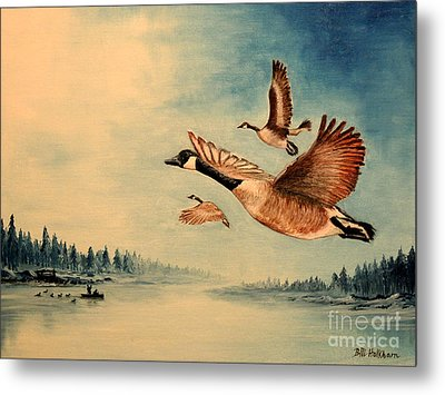 Canada Geese Metal Print by Bill Holkham