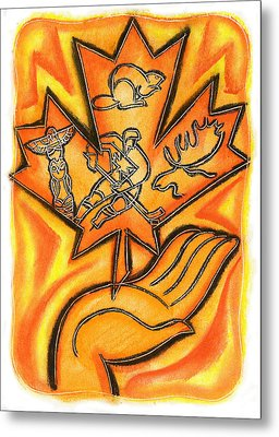 Canada Metal Print by Leon Zernitsky