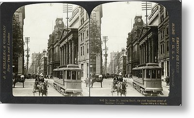 Canada Montreal, 1908 Metal Print by Granger