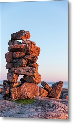 Canada, Nunavut, Territory, Setting Sun Metal Print