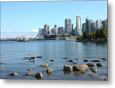 Canada Place And The Vancouver Bc Skyline Canada. Metal Print by Gino Rigucci